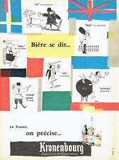 Publicité Advertising 028  1959  bière Kronenbourg  par Lima  France
