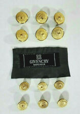 Givenchy Monsieur Gold Colored Replacement Metal Buttons With Label Set of 12