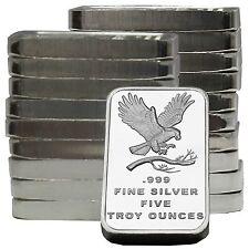 SilverTowne Trademark Eagle 5oz .999 Silver Bar 20pc