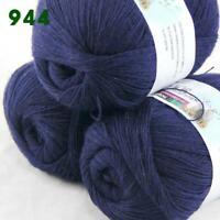 Sale 3 Skeins x 50g Soft Acrylic Wool Cashmere Hand Knit Fine Crochet Yarn 944