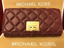 NWT MICHAEL KORS QUILTED LEATHER ASTRID CARRYALL WALLET IN MERLOT/GOLD (SALE!!)