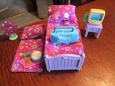 Fisher-Price Loving Family Dollhouse KID'S BEDROOM Set Trundle Bed, TV, Boom Box