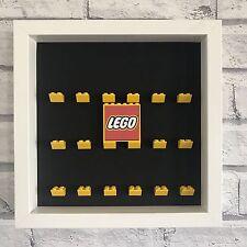 Mini Figures Display Case Frame blanc jaune lego brique série lego Logo