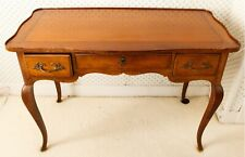 Baker Antique Wood French Country Writing Desk w Locking Drawer