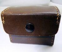 """Brown Hard Camera Prism Finder  Case 2X2.5""""  vintage leather"""
