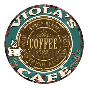 CWCC-0244 VIOLA'S COFFEE CAFE Sign Valentine Mother's Day Housewarming Gift Idea
