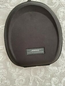 Bose Large Protective Black Headphone Case with Cable, Never Used.