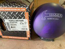 NEW 15lb Hammer Purple Pearl Urethane Bowling Ball 877C