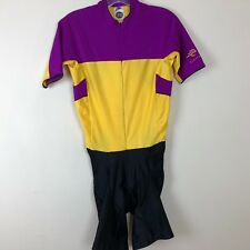 1c2522237 Vintage Nike Echelon Cycling Suit Sz Medium Race Suit Bibs Shorts Padded  Purple
