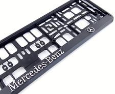 SATZ   3D  MERCEDES BENZ I 2x Kennzeichenhalter I Kennzeichenhalterung