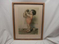 "Circa 1939 ""Mine"" Bessie Pease Gutmann Framed 19"" x 15"" Made in USA Litho"