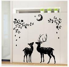 Deer Moon Wall Sticker Home Decor Decal Mural DIY Art Vinyl Decal Removable UK