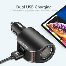 FLOVEME Dual USB Car Charger Digital Display 5V 3.1A ABS Fast Charging Adapter