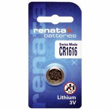 2 x Renata CR1616 3V Lithium Batterie Knopfzelle 60mAh im Blister