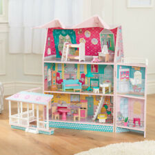 Kidkraft Abby Manor Dollhouse | Wooden Dollhouse | Roof And Front Opens up