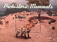 Nevis Prehistoric Mammals Stamps S/S 2015 Mnh Saber Toothed Cat Tiger Dinosaur
