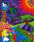 Psychedelic Alice In Wonderland Trippy Art Sticker or Magnet