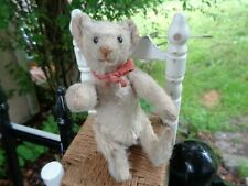 RARE White Antique Steiff Rattle Bear