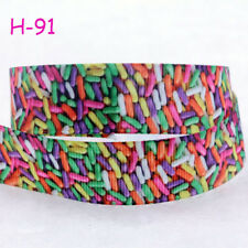 """NEW DIY 7/8"""" (22mm) Candy Printed Grosgrain Ribbon Hair Bows Sewing Crafts Gifts"""