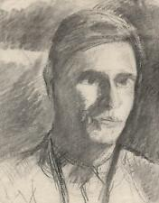 IMPRESSIONIST MALE PORTRAIT Pastel Drawing c1950 SICKERT Pupil FRANK GRIFFITH