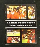 1974 LAMAR UNIVERSITY COLLEGE NCAA FOOTBALL MEDIA GUIDE YEARBOOK