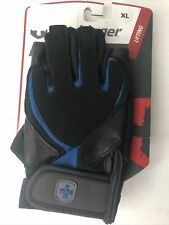 Harbinger Strength Training Gloves Lifting Black Blue A1