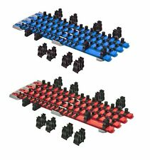 Ernst 8470 RD + 8471 BL TWIST LOCK Socket Organizer Red / Blue Systems