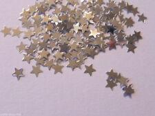 100 Sterne Silber Streuelemente Streudeko Basteln Kartengestaltung ca:5 mm