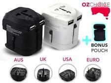 Universal Travel Adapter USB Wall AC Power to AU EUROPE USA UK International