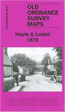OLD ORDNANCE SURVEY MAP HAYLE UNY LELANT STEAM PACKET HOTEL MOUNT PLEASANT 1876