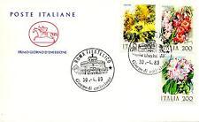 Repubblica Italiana 1983 FDC Cavallino Fiori d'Italia