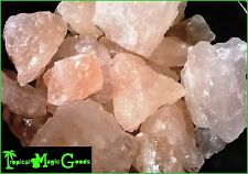 100% NATURAL HIMALAYA MOUNTAIN VIRGIN PINK SALT ROCKS *84 MINERALS* 1 LB