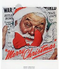 Norman Rockwell Wartime Santa Print Merry Christmas