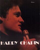 HARRY CHAPIN 1978 LIVING ROOM SUITE TOUR CONCERT PROGRAM BOOK BOOKLET / EX 2 NMT