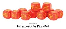 Bolt Action BNIB Orders Dice - Red (12)