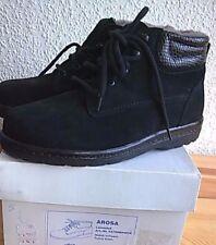 NEU Natural Feet Damen Lammfell Boots Gr 36 echt Leder NP 156€ Karton schwarz