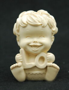 Love Baby #1, Silicone Mold Chocolate Polymer Clay Jewelry Soap Wax Resin