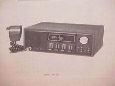 1977 REGENCY CB RADIO SERVICE SHOP MANUAL MODEL CB-701