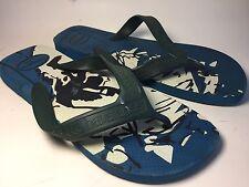 Havaianas Men US 9 / 43-44  Blue Slip On Surf Sandals Flip Flops Thongs Shoes