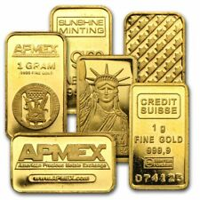 1 Gram Fine Gold Bar - Assayed .9999 Pure Fine Bullion - Random Mint/Make