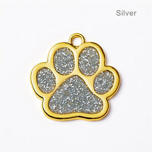 New Puppy Footprint Anti-lost Dog Collar Dogs Name Tags Pendant Pet ID Tag