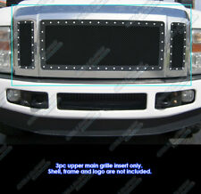 Fits 2008-2010 Ford F250/F350/F450 XLT Lariat King Ranch Black Rivet Grille