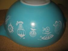 4 quart Pyrex Hot Air Balloon Bowl Limited Edition 1958 Turquoise # 444