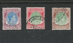 SINGAPORE KING GEORGE VI STAMPS TO $5