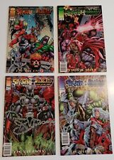 Spawn / Wildcats 1,2,3,4 Complete Set Nm 1996 Alan Moore Writer Great Cross Over