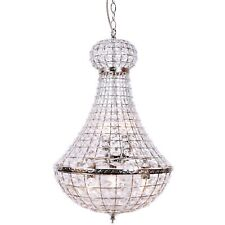 PALACE Empire Chandelier Crystal Pendant Light Large Chrome French Basket New