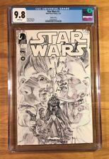 Star Wars #1, Alex Ross Sketch Variant, (2013), Dark Horse, CGC 9.8 NM/MT
