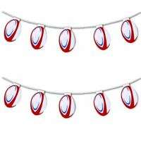 The Six Nations Championship Rugby Ball Bunting 10 Flags Match Party Decorations