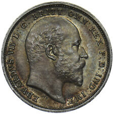 More details for 1903 maundy fourpence - edward vii british silver coin - superb