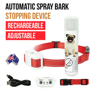 Dog Citronella Anti Bark Spray Collar Rechargeable Training Stop Barking Humane